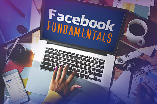 Facebook Fundamentals on Laptop